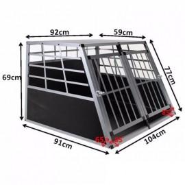 """Přepravní, transportní box/klec pro psa, 104 cm, 2x šikmý 76"""" s přepážkou."""